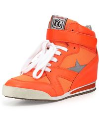 Ash Jazz Bis Star-detailed Combo Wedge Sneaker - Lyst