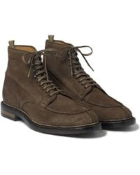 Officine Creative Laceup Suede Boots - Lyst