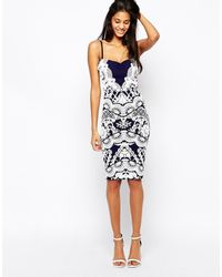 Lipsy Cami Dress With Baroque Flocking Detail - Lyst