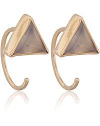 Melissa Joy Manning - Gold Chalcedony Triangle Hug Earrings - Lyst