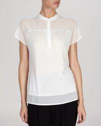 Karen Millen Sheer Panel Collection Shirt   - Lyst