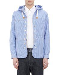 Junya Watanabe Gingham Shirt Hooded Jacket - Lyst