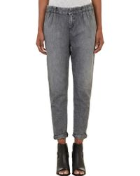 Rag & Bone Shimmery Pleated Jeans - Lyst