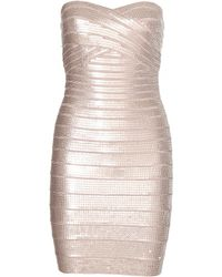 Hervé Léger Nazik Sequin Bandage Dress - Lyst