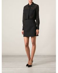 Victoria Beckham Perforated Shirt - Lyst