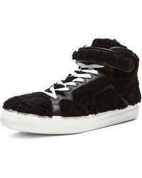 Pierre Hardy Shearling High Top Sneaker - Lyst
