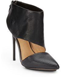 L.A.M.B. Theo Ankle-Strap Leather Pumps - Lyst