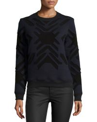 Risto - Geometric-print Applique Sweatshirt - Lyst