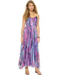 Bb Dakota Barby Paintstrokes Maxi Dress - Multi - Lyst