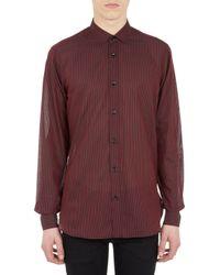 Saint Laurent Candystripe Voile Shirt - Lyst