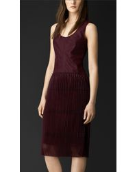 Burberry Pleated Tulle Dress - Lyst