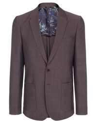Paul Smith Grey Buggy Lined Two-Button Blazer - Lyst