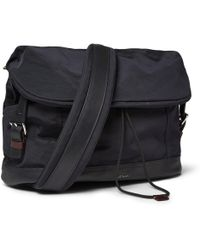 Paul Smith Leather-trimmed Grosgrain Messenger Bag - Lyst