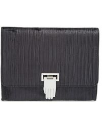Opening Ceremony 'Nokki' Textured Leather Clutch - Lyst