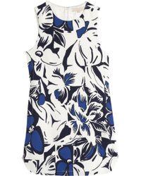 Vanessa Bruno Printed Crepe Dress - Lyst