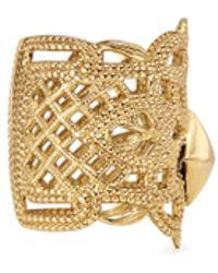Ela Stone 'Bucci' Pyramid Stud Brass Lace Ring gold - Lyst