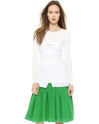 Thakoon Cotton Wrapped Top  White - Lyst