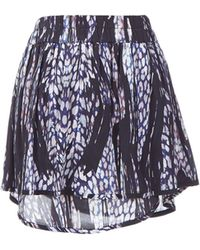IRO Printed Silk Mini Skirt - Lyst