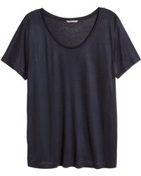 H&M + Jersey Top - Lyst