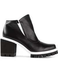 Jamie Wei Huang - Chunky Heel Ridged Sole Boots - Lyst