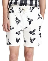 Band of Outsiders Cuffed Knit Shorts white - Lyst