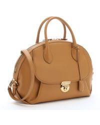 Ferragamo Sienne Leather 'Fiamma' Large Convertible Satchel - Lyst
