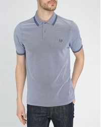 Fred Perry Mottled-Navy And Blue Classic Slim-Fit Polo Shirt blue - Lyst