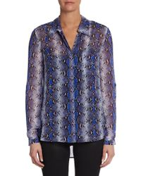 Diane Von Furstenberg Lorelei Two Pythonprint Silk Shirt - Lyst
