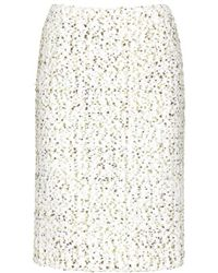 Giambattista Valli Tweed Skirt - Lyst
