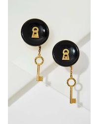 Chanel | Vintage Keyhole Earrings | Lyst