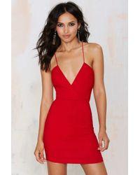 Nasty Gal | Billie Crossover Bodycon Dress - Red | Lyst