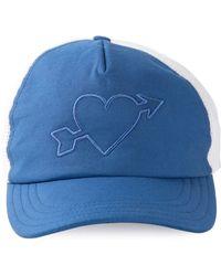 AMI Heartbreaker Embroidery Cap - Lyst