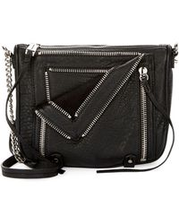 She + Lo - Let It Ride Leather Zip Crossbody Bag - Lyst
