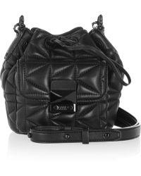 Karl Lagerfeld Kkuilted Mini Leather Shoulder Bag - Lyst