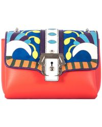 """Paula Cademartori Multicolor """"Carine"""" Bag With Suede Inserts multicolor - Lyst"""