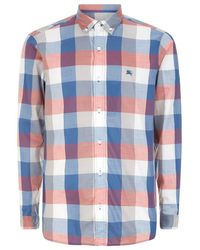 Burberry Brit Exploded Gingham Cotton Button-Down Shirt - Lyst