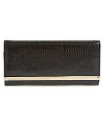 Jimmy Choo 'Milla' Leather Clutch - Lyst