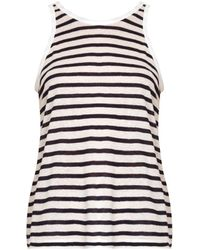 T By Alexander Wang Striped Scoop-Back Tank Top - Lyst