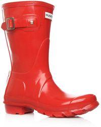 Hunter Red Original Gloss Short Wellington Boots - Lyst