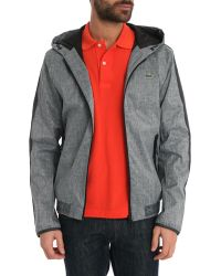 Lacoste Sport Grey Nylon Jacket - Lyst