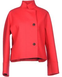 Balenciaga Red Jacket - Lyst