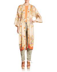 Polo Ralph Lauren Silk Floral Duster - Lyst