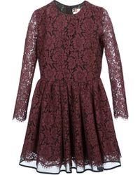 MSGM Lace Skater Dress - Lyst