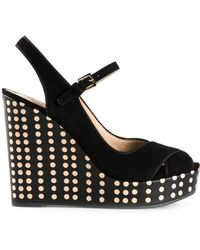 Tory Burch Black Ollie Sandals - Lyst
