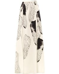 Honor Dragonfly Wingsprint Silk Skirt - Lyst