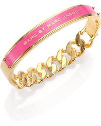 Marc By Marc Jacobs Id Katie Bangle Bracelet/Rose - Lyst