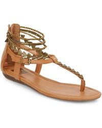 DV by Dolce Vita Afina Beaded Faux Leather Sandals - Lyst