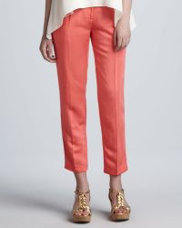 Milly Nicole Cropped Pants - Lyst