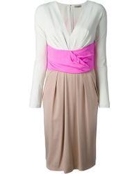 Bottega Veneta Shock Colour Block Dress - Lyst