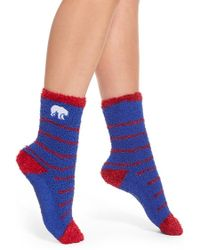 Kensie | 'butter - Polar Bear' Grip Crew Socks, (2-pack) | Lyst